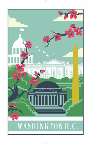 "Ulster Weavers, ""Washington DC"", Cotton tea towel. Printed in the UK."