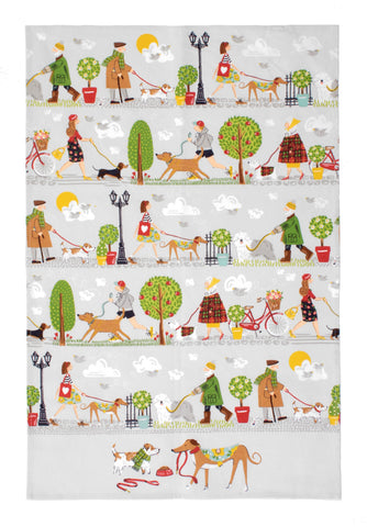 "Ulster Weavers, ""Walkies"", Pure cotton printed tea towel. - Home Landing"