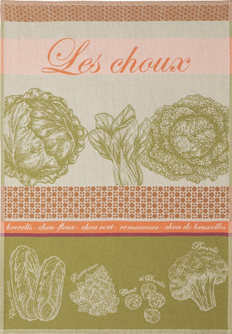 "Coucke ""Choux"", Woven cotton tea towel. Designed in France."