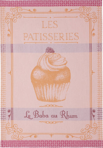 "Coucke ""Baba Au Rhum"", Woven cotton tea towel. Designed in France."