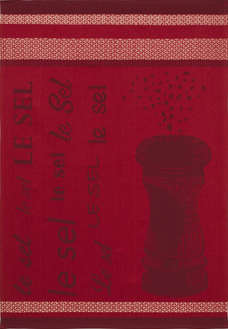 "Coucke ""Sel Rouge"", Woven cotton tea towel. Designed in France."