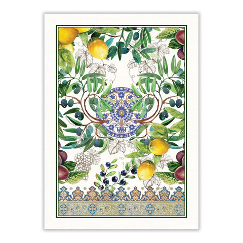 "Michel Design Works, ""Tuscan Grove"", Pure cotton printed tea towel. - Home Landing"