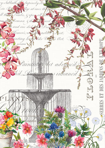 "Michel Design Works, ""In the Garden"", Pure cotton printed tea towel. - Home Landing"