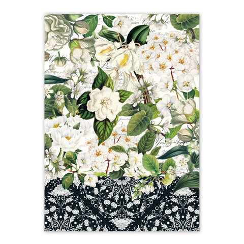 "Michel Design Works, ""Bouquet"", Pure cotton printed tea towel. - Home Landing"