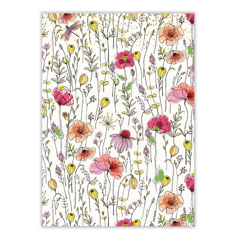 "Michel Design Works, ""Posies"", Pure cotton printed tea towel. - Home Landing"