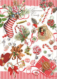 "Michel Design Works, ""Peppermint"", Pure cotton printed tea towel."