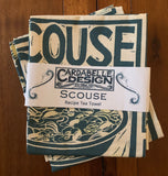 "Cardabelle Design ""Kate Guy Scouse"", Organic cotton tea towel. UK printed. - Home Landing"