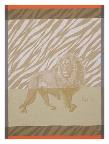 "Jacquard Français ""Savane"" (Sand), Woven cotton tea towel. Made in France. - Home Landing"