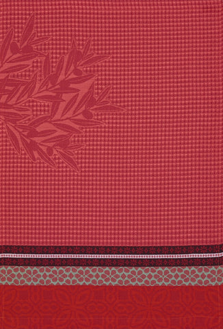 "Jacquard Français ""Alpilles"" (Red), Woven cotton hand towel. Made in France"