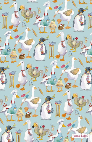 "Emma Ball ""Animal Magic"", Pure cotton tea towel. Printed in the UK. - Home Landing"