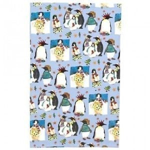"Emma Ball ""Christmas Penguins"", Pure cotton tea towel. Printed in the UK."