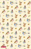"Emma Ball ""Christmas Birds"", Pure cotton tea towel. Printed in the UK. - Home Landing"