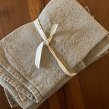"Charvet Éditions ""Doudou Plain"" (Natural), Natural woven linen tea towel. Made in France. - Home Landing"