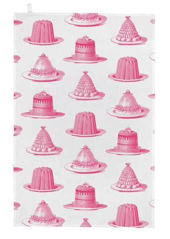 "Thornback & Peel ""Jelly & Cake"", Pure cotton tea towel. Hand printed in the UK. - Home Landing"