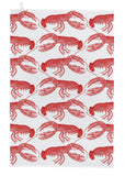 "Thornback & Peel ""Lobster"", Pure cotton tea towel. Hand printed in the UK. - Home Landing"