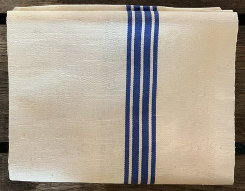 "Charvet Éditions ""Piano"" (Blue), Woven linen union tea towel. Made in France."