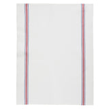 "Charvet Éditions ""EPI - Red"", white woven cotton tea towel. Made in France. - Home Landing"