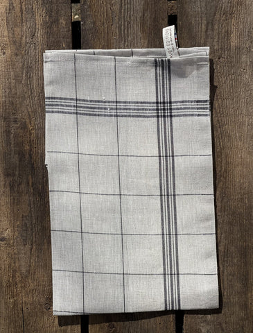 "Charvet Éditions ""Bistro"" (Linen), Natural woven linen tea towel. Made in France."