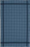 "Charvet Éditions ""Bistro"" (Blue Pastel), Natural woven linen tea towel. Made in France."