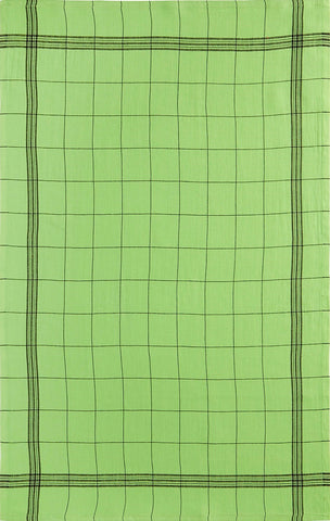 "Charvet Éditions ""Bistro"" (Mojito), Natural woven linen tea towel. Made in France."