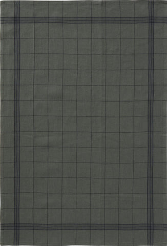 "Charvet Éditions ""Bistro"" (Romarin), Natural woven linen tea towel. Made in France."