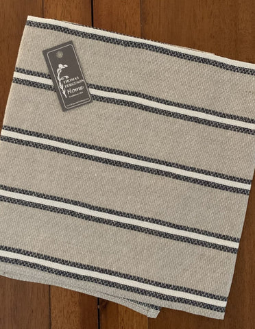 Thomas Ferguson Linen Toothpaste Stripe Tea Towel, Huckaback Weave. Made in Ireland
