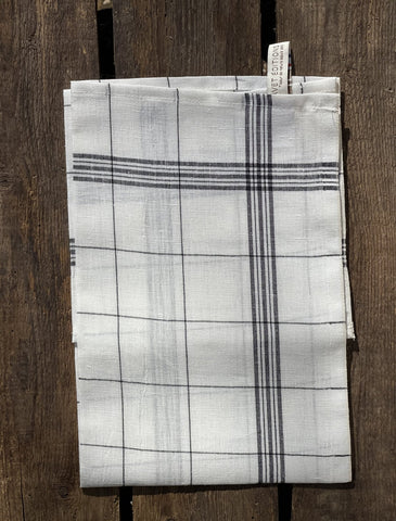 "Charvet Éditions ""Bistro"" (Black), Natural woven linen tea towel. Made in France."