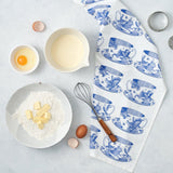"Thornback & Peel ""Tea Cup"", Pure cotton tea towel. Hand printed in the UK. - Home Landing"