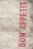 "Charvet Éditions ""Bon Appetit"" (Red), Natural woven linen tea towel. Made in France."