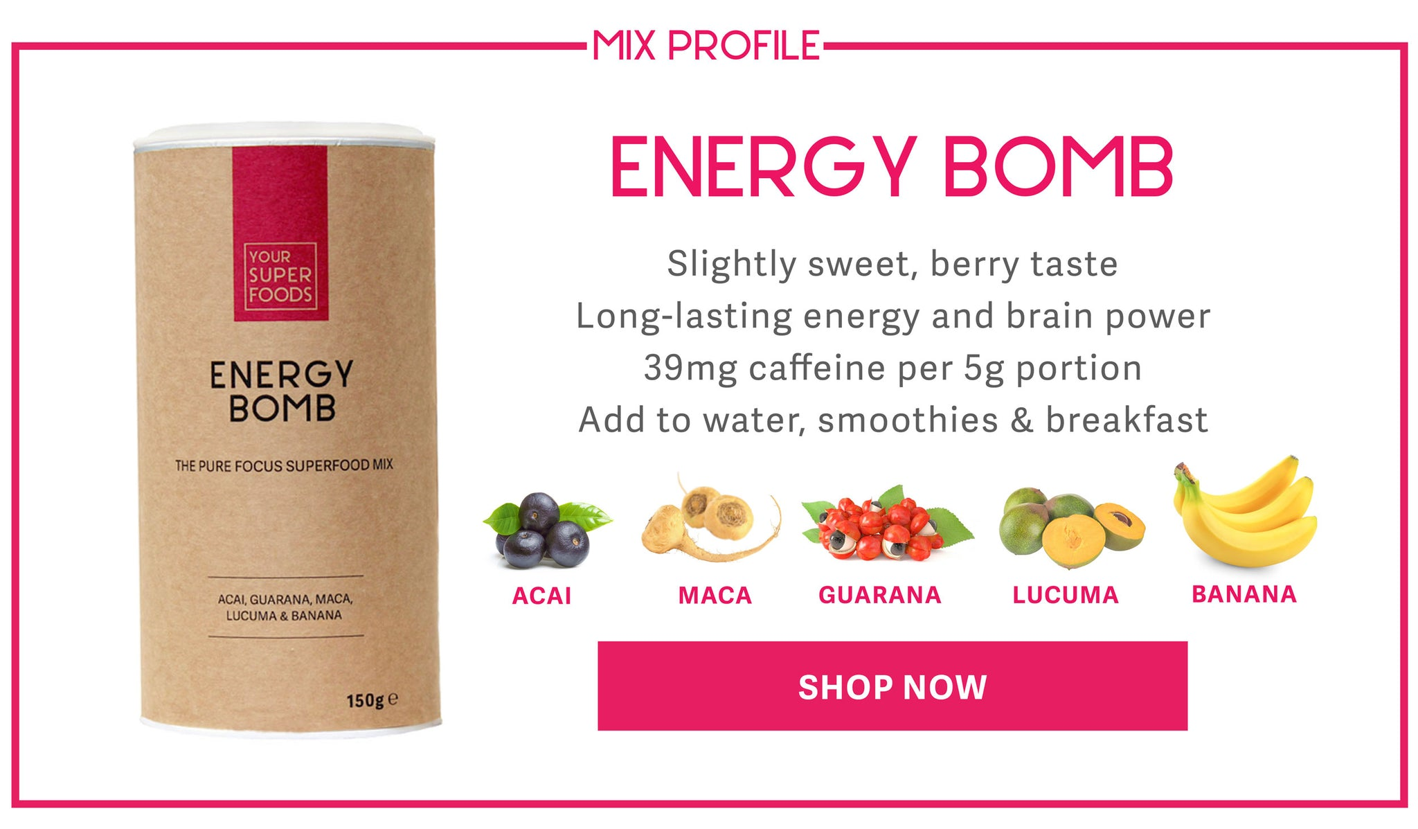 Energy Bomb Mix Profile