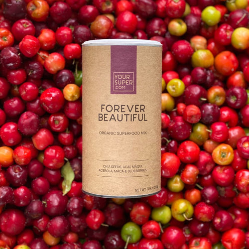 can of Forever beautiful on berries