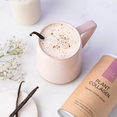 plant collagen latte