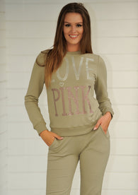 LOVE PINK Sweater Khaki