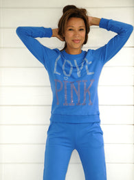 LOVE PINK SWEATER  Blue