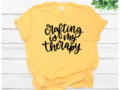 crafting-is-my-therapy-bella-canvas-yellow-triblend-t-shirt