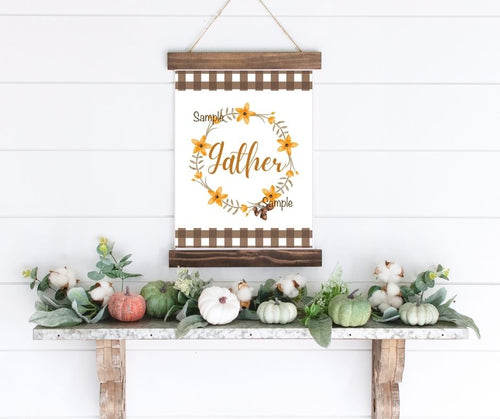 Gather Fall Wreath Printable 8x10 - Southern Crush