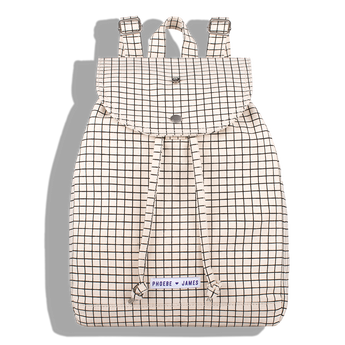 Phoebe James Accessories Backpack - Black & White Grid