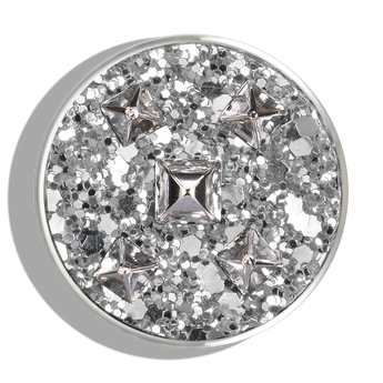 Phoebe James Statement Silver Glittered Stud Statement - Silver