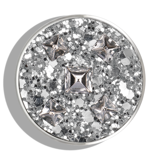 Silver Glittered Stud Charm - Phoebe James