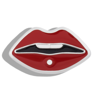 Phoebe James Statement Lips - Silver
