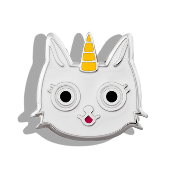 Phoebe James Statement Unicorn Cat - Silver