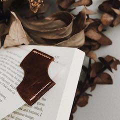 What are people saying about our leather bookmark design?