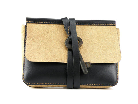 HERITAGE HANDBAG: MINI CLUTCH Key Clutch - KAMEL
