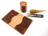 HORIZ Flip Wallet - a handmade camel leather card wallet Slim Card Wallet - KAMEL