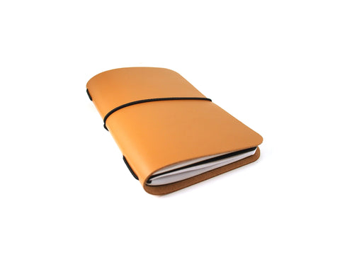 VOYAGER Work/Travel Leather Notebook Cover in Tan Notebook cover - KAMEL