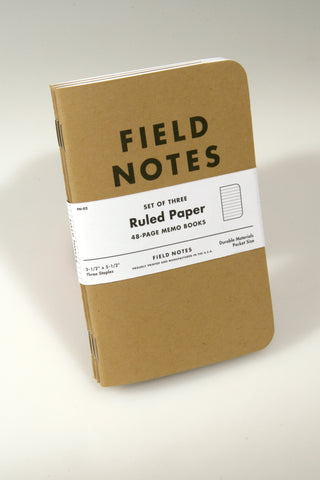 FIELD NOTES - ORIGINAL 3-PACK Notebook - KAMEL