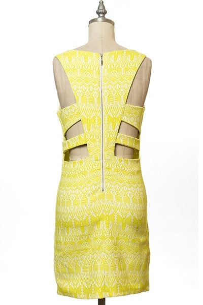 Let the Sun Shine in Yellow Cut-out Dress