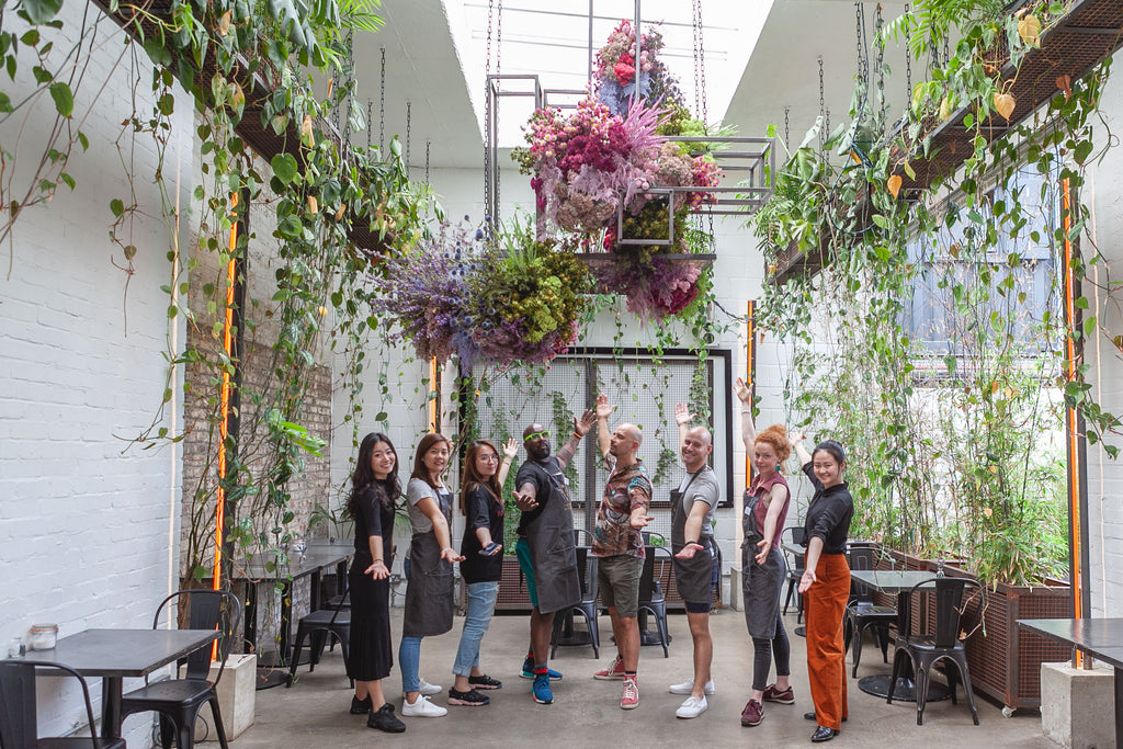 Hackney Coffee Company - Latest Flower Installation
