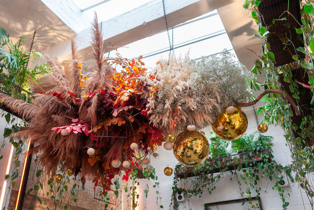 Our October floral installation explodes with colour