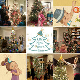 New years tree, O new years tree, Oh new years tree, Oh new year's tree, new year's tree, the new years tree,decorating kit for christmas tree into a new year tree, family tradition, family New Year's Eve, family activity, holiday activity, toss streamers, christmas tree, wish ornament, wish holder, last ornament on the tree